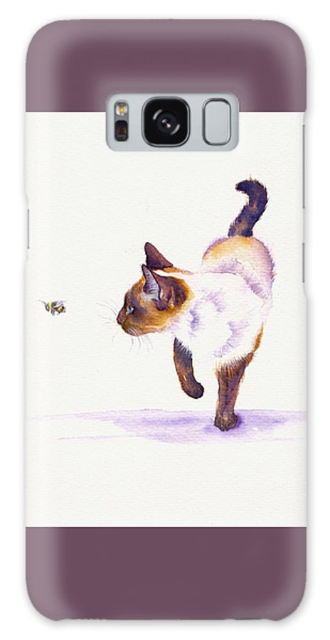Cat Galaxy S8 Case featuring the painting Bee Free by Debra Hall