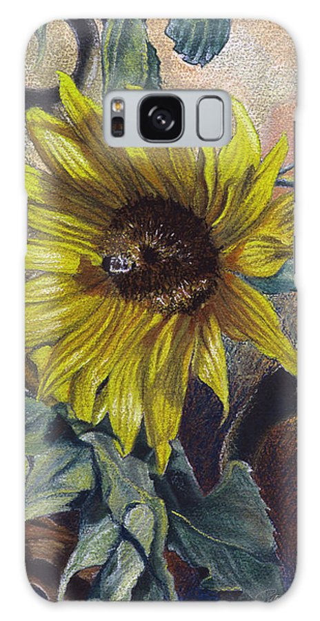 Floral Galaxy S8 Case featuring the painting Bee In A Bonnet by Peter Muzyka