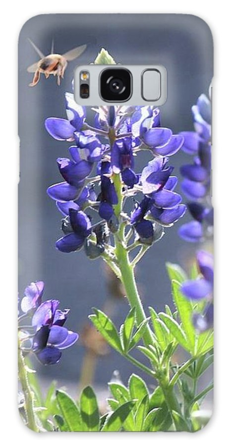 Blue Bonnet Galaxy S8 Case featuring the photograph Bee In My 'bonnet by Amber Stubbs