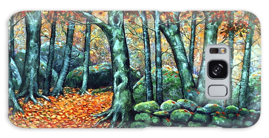 Landscape Galaxy S8 Case featuring the painting Beech Woods by Frank Wilson