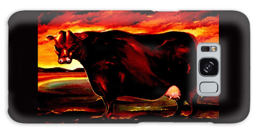 Farm Animal Galaxy S8 Case featuring the painting Beef Holocaust IIi by Mark Cawood