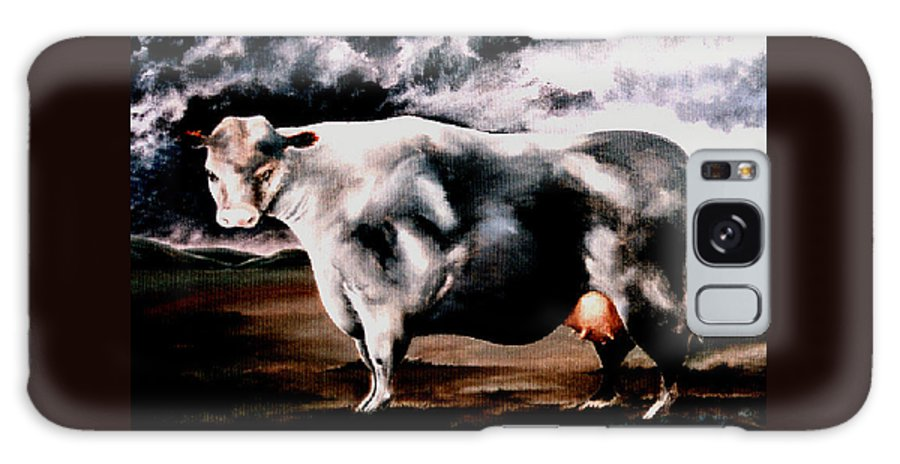 Cow Galaxy S8 Case featuring the painting Beef Holocaust Iv by Mark Cawood