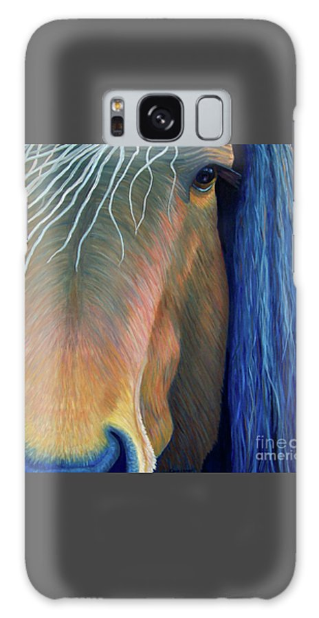 Horse Galaxy S8 Case featuring the painting Before Sundown by Brian Commerford