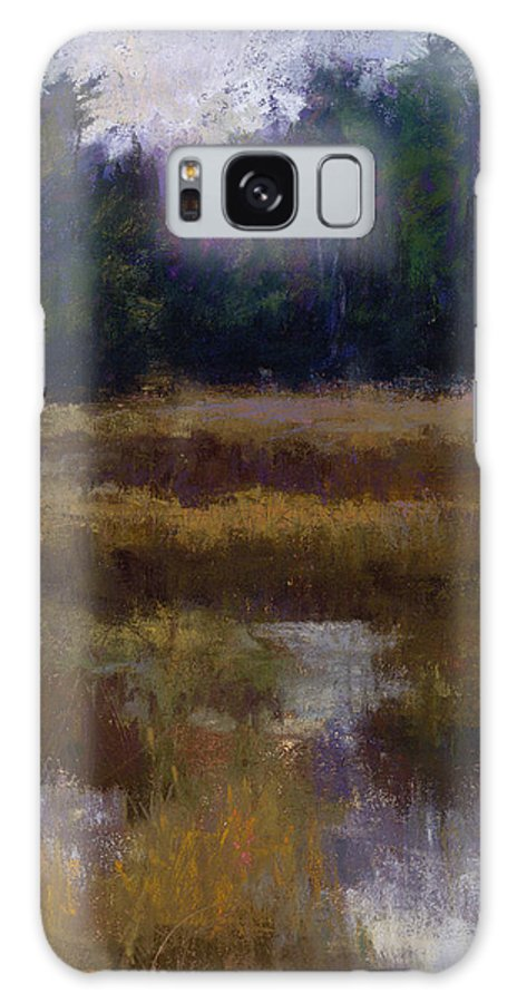Landscapes Galaxy Case featuring the pastel Before The Snow by Susan Williamson