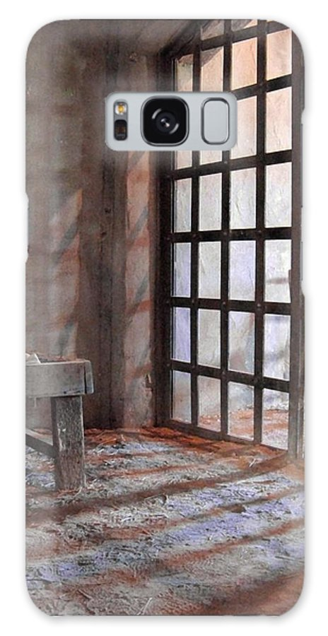 Alamo Village Galaxy Case featuring the photograph Behind Bars by Mona Davis