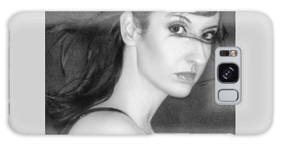 Alluring Galaxy S8 Case featuring the photograph Behind Her Eyes Secrets Sleep... by Jaeda DeWalt