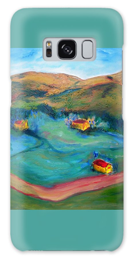 Landscape Galaxy S8 Case featuring the painting Beit Shemesh by Suzanne Udell Levinger
