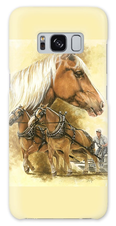 Equus Galaxy Case featuring the mixed media Belgian by Barbara Keith