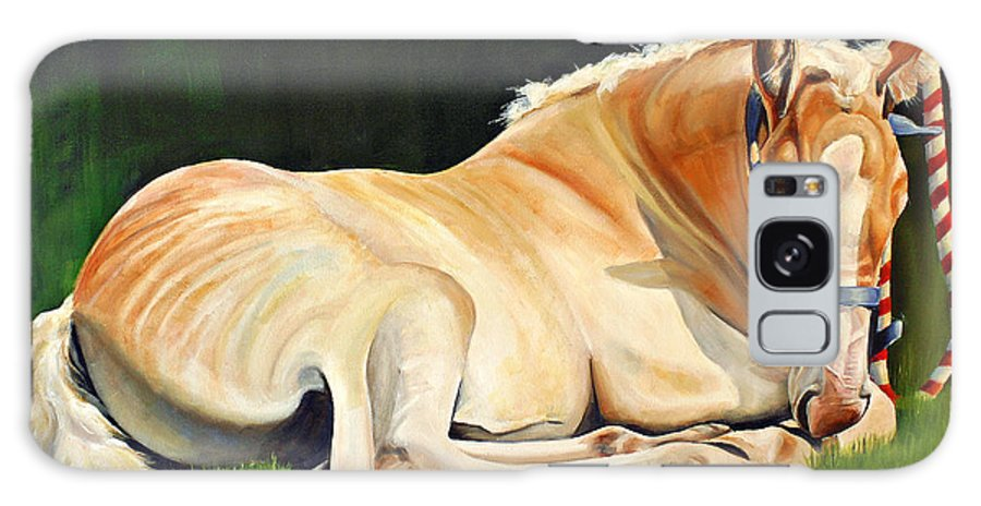 Belgian Galaxy S8 Case featuring the painting Belgian Horse Foal by Toni Grote