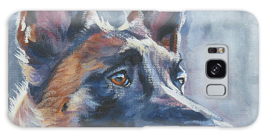 Belgian Malinois Galaxy S8 Case featuring the painting Belgian Malinois In Winter by Lee Ann Shepard
