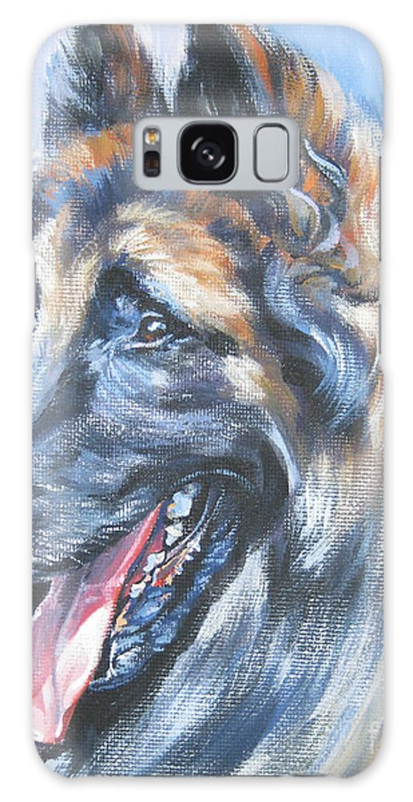 Belgian Tervuren Galaxy S8 Case featuring the painting Belgian Tervuren by Lee Ann Shepard