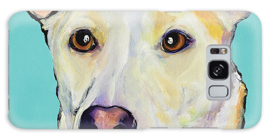 Dog Paintings Galaxy S8 Case featuring the painting Bella by Pat Saunders-White