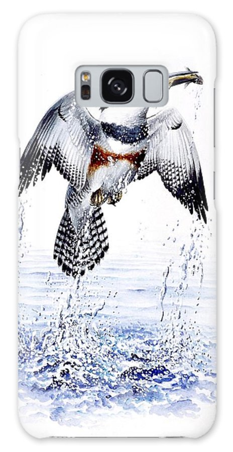 Chris Cox Galaxy S8 Case featuring the painting Belted Kingfisher by Christopher Cox