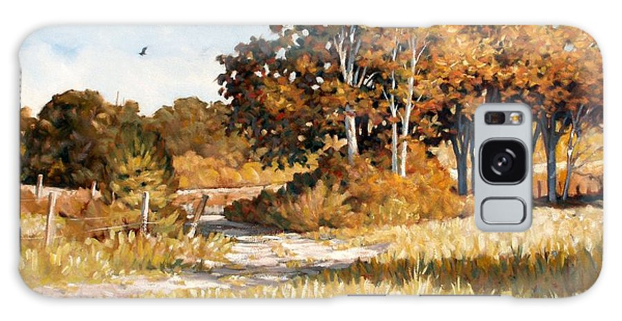 Landscape Galaxy S8 Case featuring the painting Bend In The Road by Kevin Lawrence Leveque