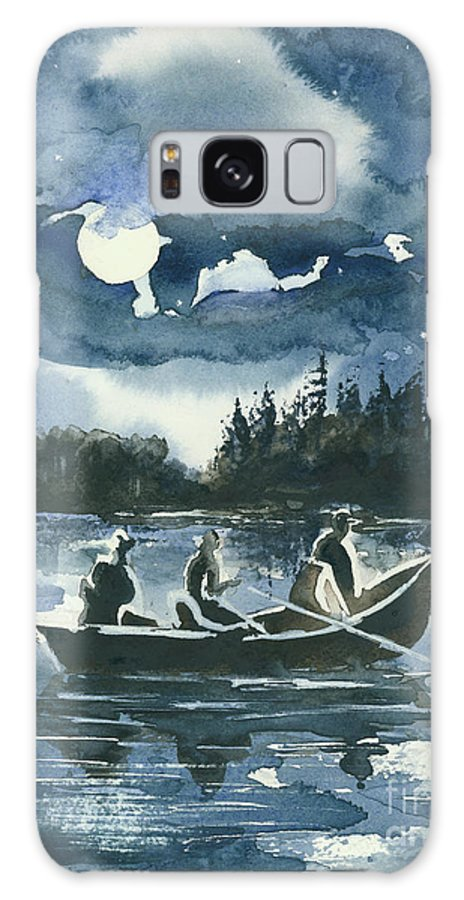 Watercolor Galaxy S8 Case featuring the painting Beneath The Stars by Elisabeta Hermann