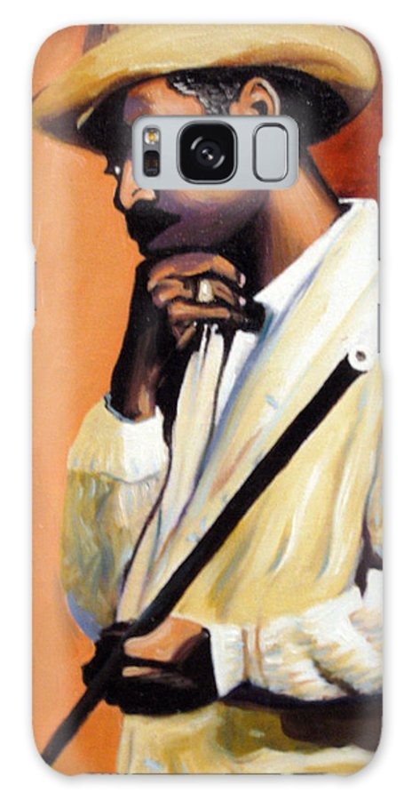 Cuban Art Galaxy S8 Case featuring the painting Benny 2 by Jose Manuel Abraham