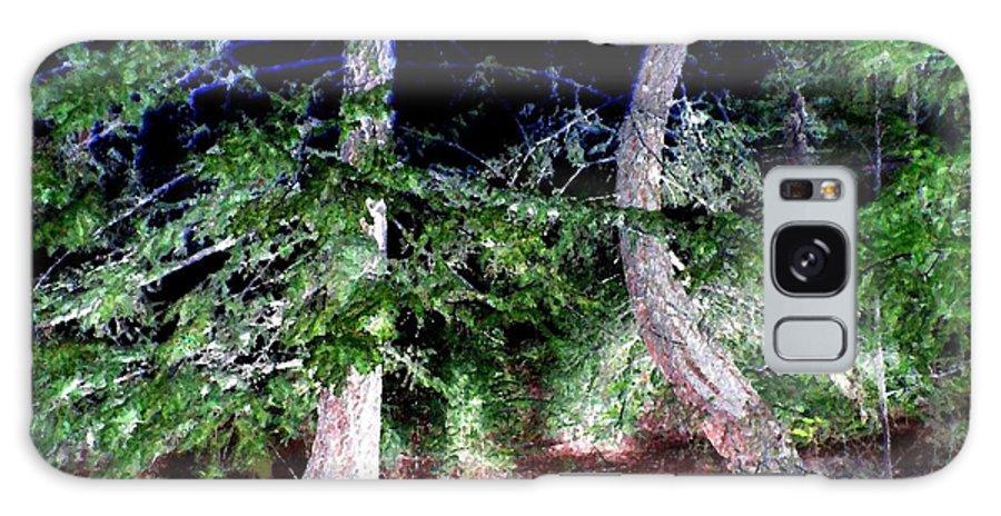 Forest Galaxy S8 Case featuring the digital art Bent Fir Tree by Will Borden