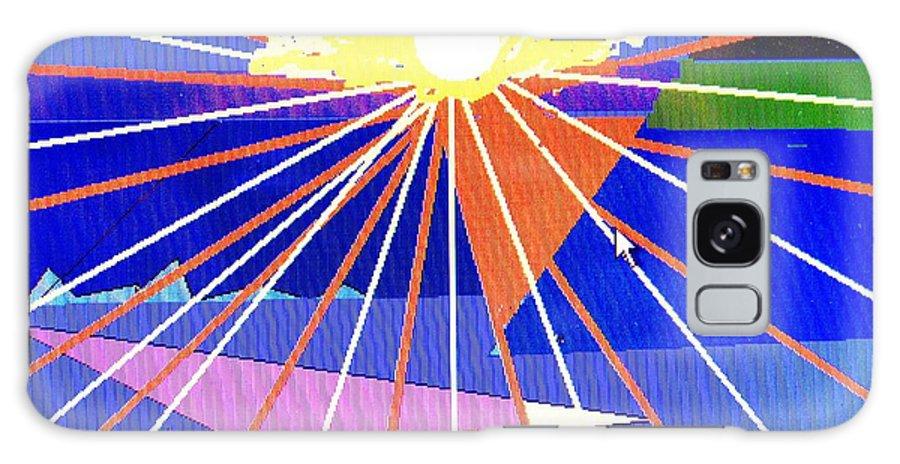 Sunset Galaxy Case featuring the digital art Bermuda Sunset by Ian MacDonald