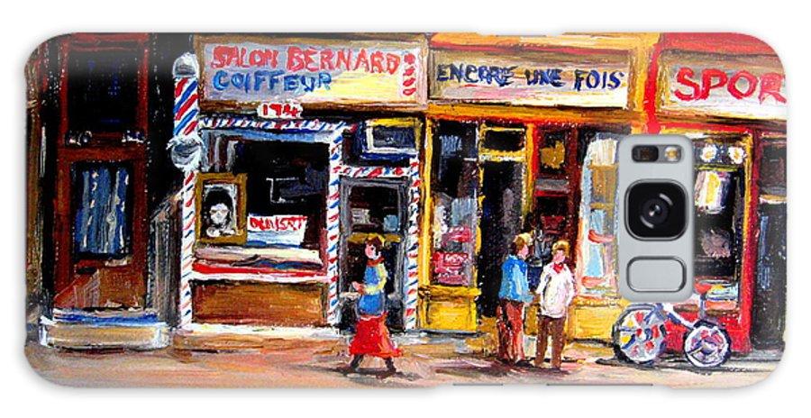 Bernard Barbershop Galaxy S8 Case featuring the painting Bernard Barbershop by Carole Spandau