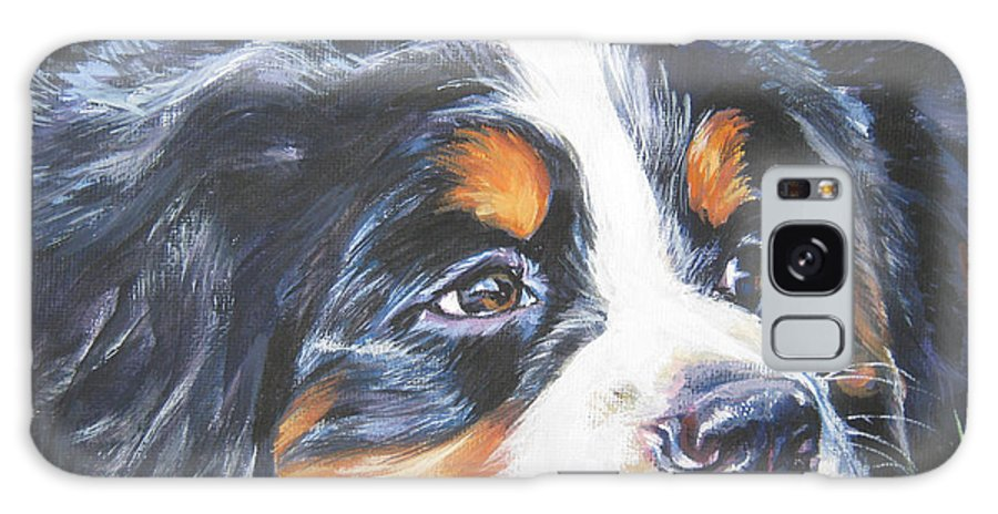 Bernese Mountain Dog Galaxy S8 Case featuring the painting Bernese Mountain Dog In Grass by Lee Ann Shepard