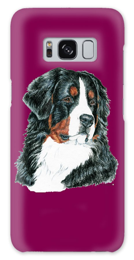 Bernese Mountain Dog Galaxy Case featuring the drawing Bernese Mountain Dog by Kathleen Sepulveda