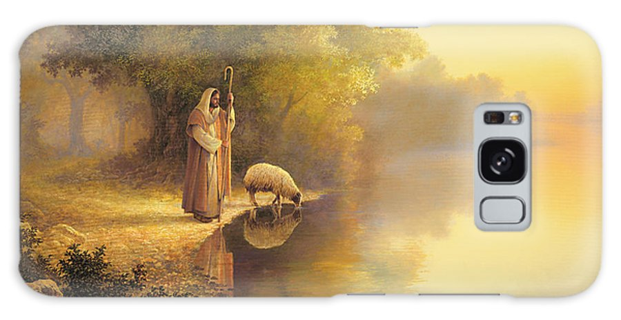 Jesus Galaxy Case featuring the painting Beside Still Waters by Greg Olsen