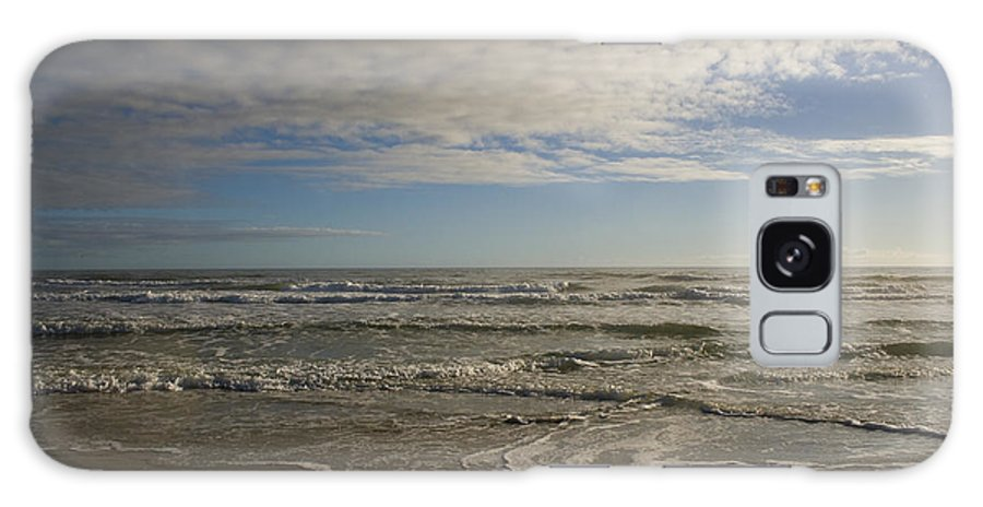 Wave Sand Ocean Beach Sky Water Wave Tide Sun Sunny Vacation Cloud Morning Early Galaxy S8 Case featuring the photograph Between Night And Day by Andrei Shliakhau