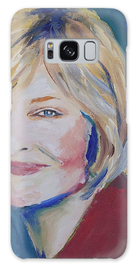 Portrait Painting Galaxy S8 Case featuring the painting Bevil by Julie Dalton Gourgues