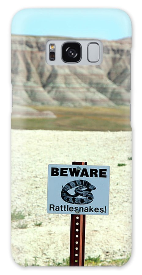 Sign Galaxy S8 Case featuring the photograph Beware Rattlesnakes by George Jones