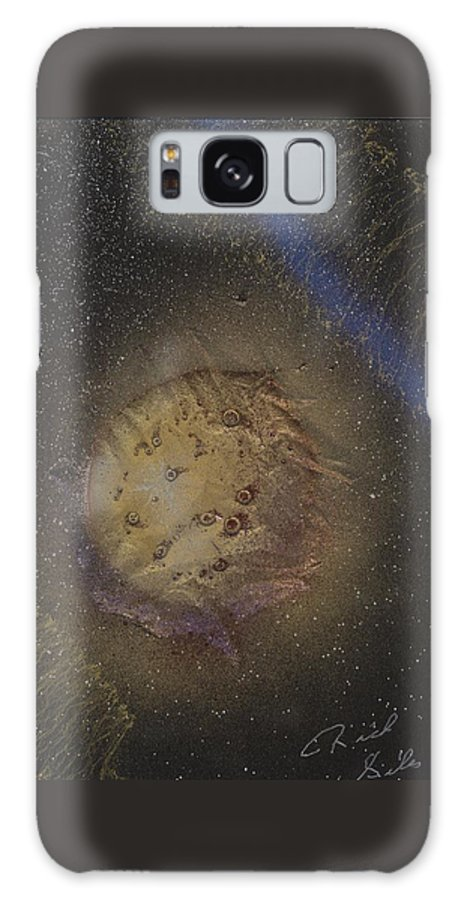 Glass Galaxy S8 Case featuring the painting Beyond by Rick Silas