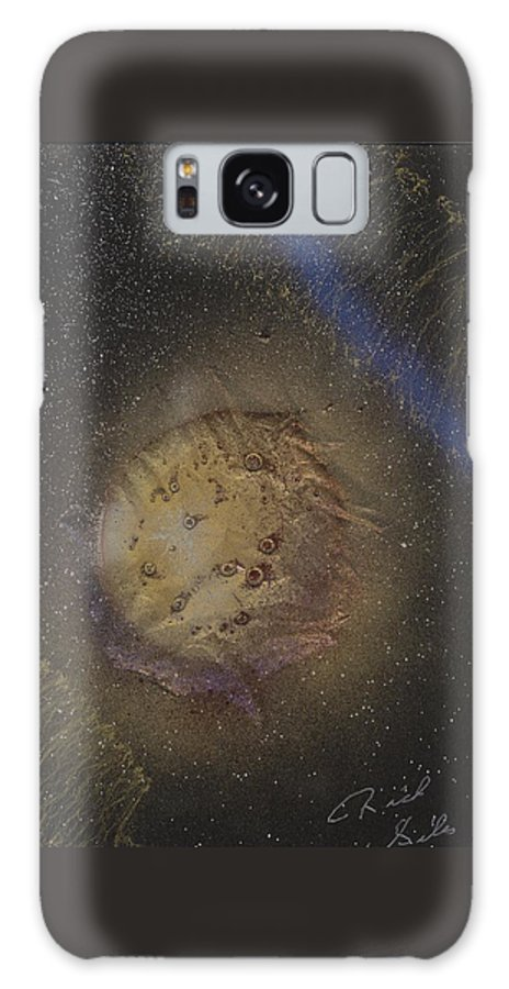 Glass Galaxy Case featuring the painting Beyond by Rick Silas