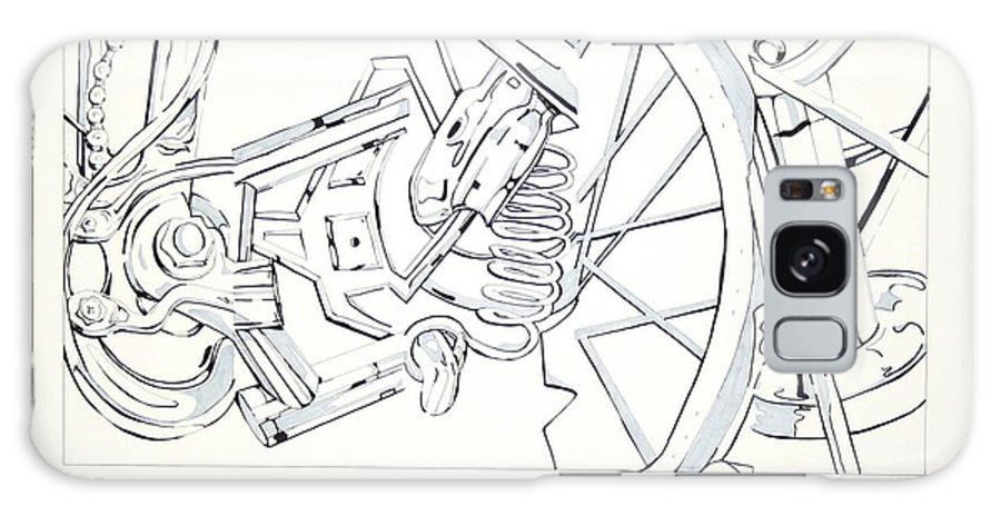 Bicycle Galaxy S8 Case featuring the drawing Bicycle by Maryn Crawford
