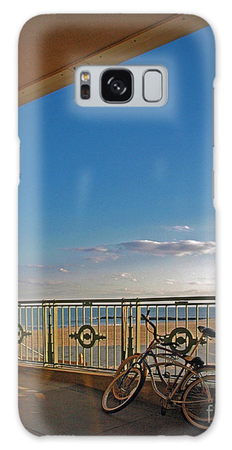 Bradley Galaxy S8 Case featuring the photograph Bicycles Resting by Rich Despins