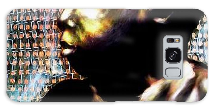 Portrait Galaxy Case featuring the mixed media Big Baby Boy by Chester Elmore