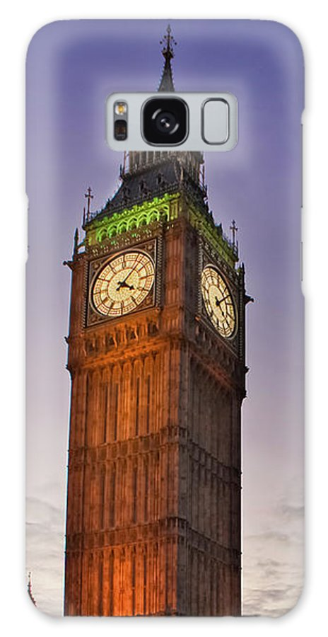 Big Ben Galaxy S8 Case featuring the photograph Big Ben Twilight In London by Terri Waters