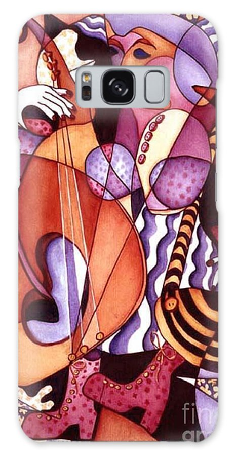 Whimsical Galaxy S8 Case featuring the painting Big Bertha by Arleen Barton