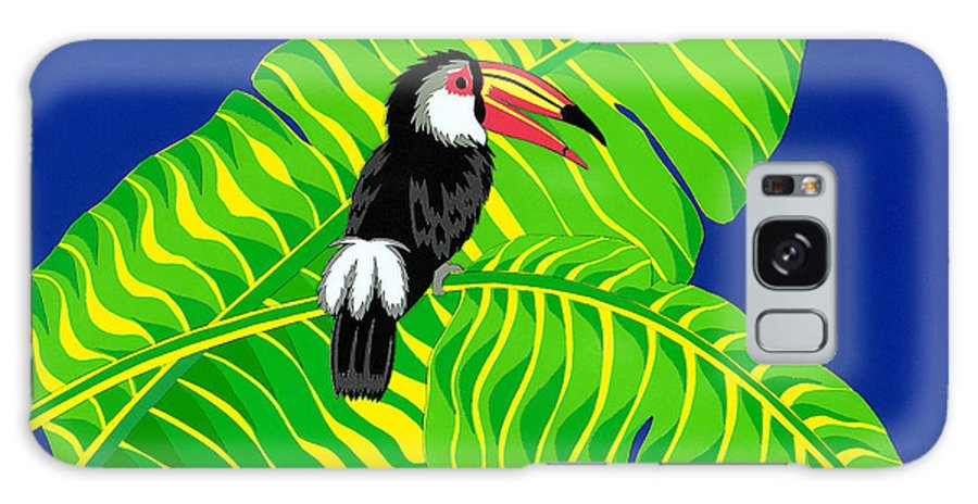 Nature Galaxy Case featuring the drawing Big Billed Bird by Lucyna A M Green
