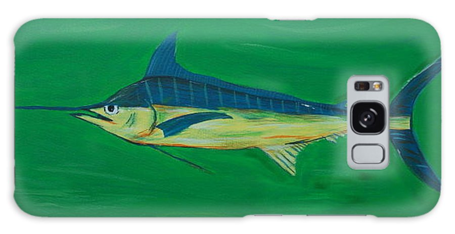 Blue Marlin Galaxy Case featuring the painting Big Fish by Angela Miles Varnado