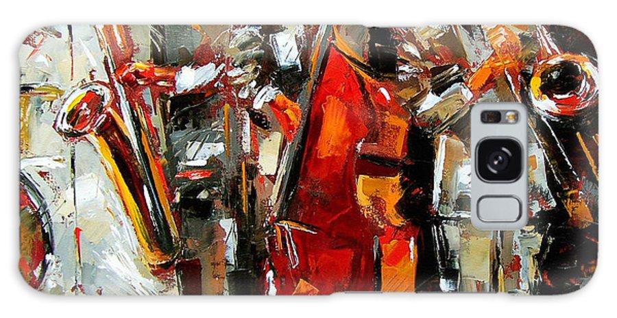 Jazz Galaxy S8 Case featuring the painting Big Jazz by Debra Hurd