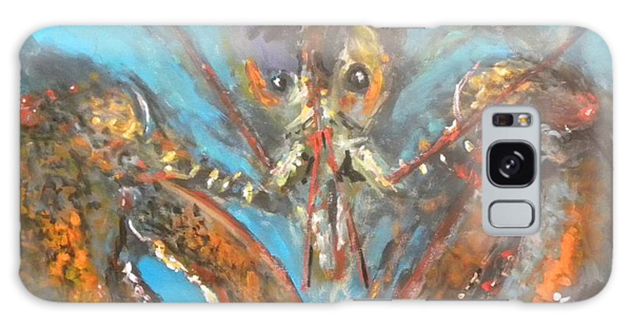Lobster Galaxy Case featuring the painting Big Lobster by Paul Emig