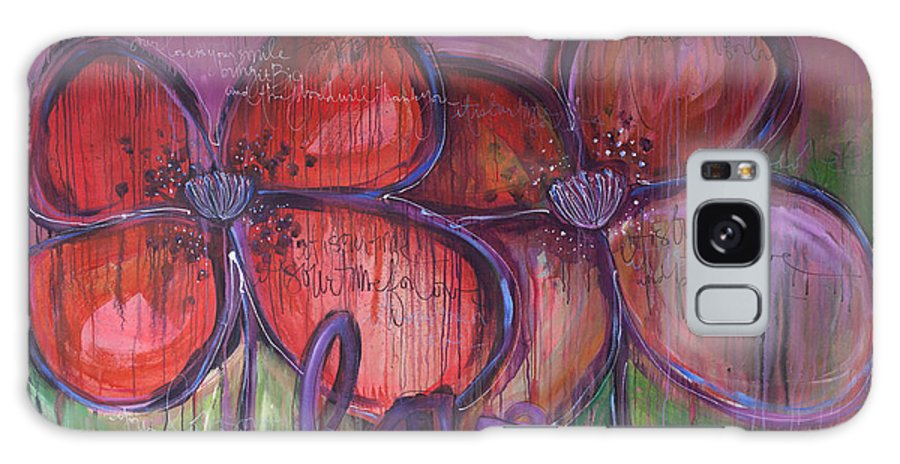 Poppies Galaxy S8 Case featuring the painting Big Love Poppies by Laurie Maves ART