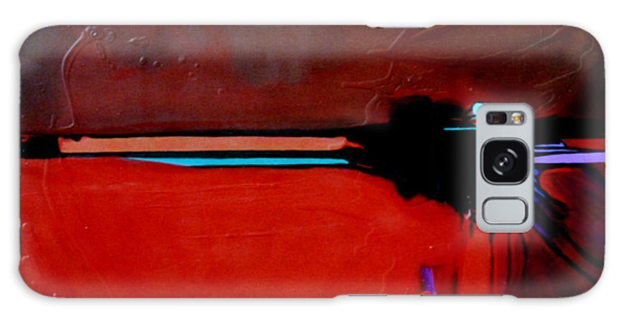 Red Galaxy Case featuring the painting Big Red by Marlene Burns