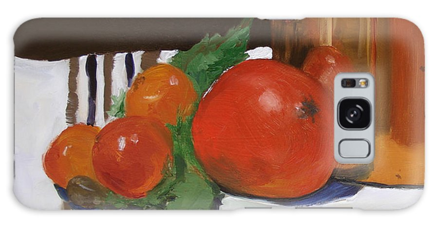 Still Life Galaxy S8 Case featuring the painting Big Red Tomato by Barbara Andolsek