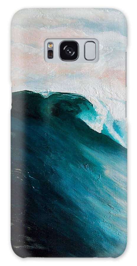 Wave Galaxy S8 Case featuring the painting Big Wave by Racquel Morgan