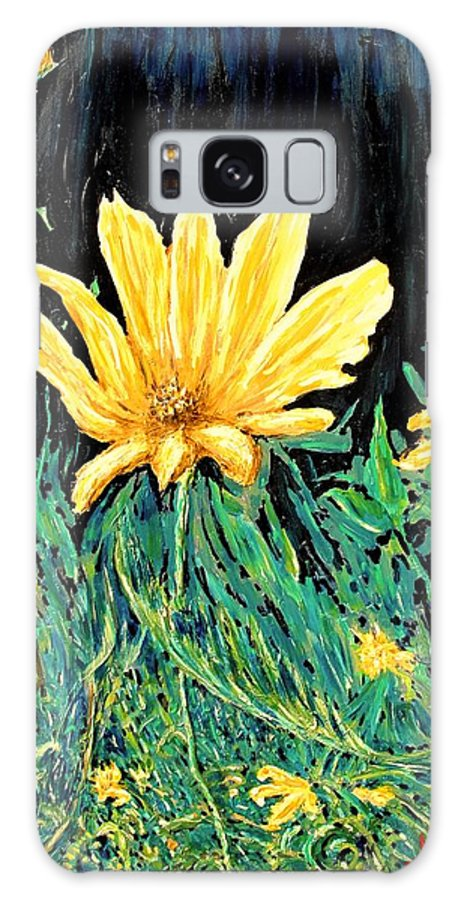Flower Galaxy Case featuring the painting Big Yellow by Ian MacDonald