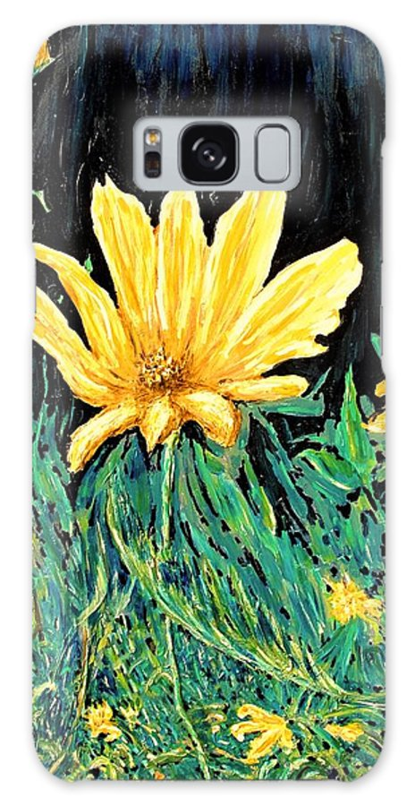 Flower Galaxy S8 Case featuring the painting Big Yellow by Ian MacDonald