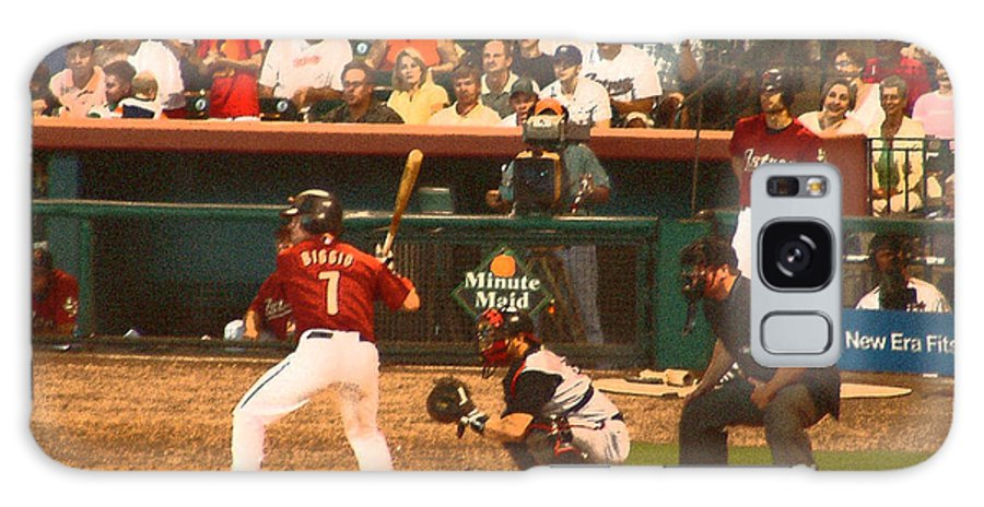 Baseball Galaxy S8 Case featuring the digital art Biggio At Bat Houston Astros by Mark Grayden