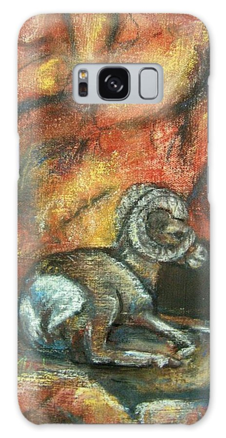 Wildlife Galaxy Case featuring the painting Bighorn by Darla Joy Johnson