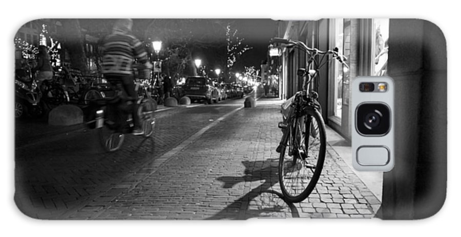 Man Riding On Bike Galaxy S8 Case featuring the photograph Bike Between Lights And Shadows, Netherlands by David Ortega Baglietto
