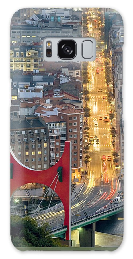 Spain Galaxy S8 Case featuring the photograph Bilbao Street by Rafa Rivas